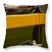 1931 Chrysler Cg Imperial Waterhouse Convertible Victoria Door Handle Throw Pillow