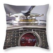 1931 Henney 2-passenger Convertible Hood Ornament Throw Pillow