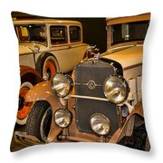 1931 La Salle Series 345r And 1929 Packard Roadster Throw Pillow