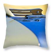 1931 Marmon Sixteen Convertible Coupe Hood Ornament Throw Pillow