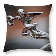 1931 Packard Deluxe Eight Roadster Hood Ornament Throw Pillow