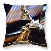 1932 Auburn V-12 Speedster Hood Ornament Throw Pillow