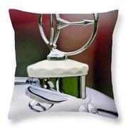 1932 Austro Daimler Hood Ornament Throw Pillow