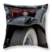 1932 Cadillac V12 Throw Pillow