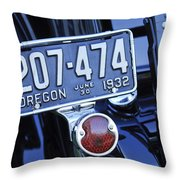 1932 Ford Model 18 Roadster Hotrod Taillight Throw Pillow