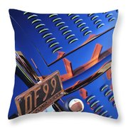 1932 Ford Taillight License Plate Throw Pillow