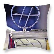 1932 Hupmobile Custom Roadster Hood Ornament Throw Pillow