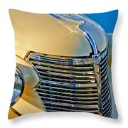 1933 Chevrolet Grille And Headlights Throw Pillow