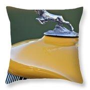 1933 Dodge Ram Hood Ornament Throw Pillow