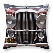1933 Duesenberg Model J - D008167 Throw Pillow