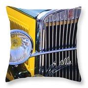 1933 Fiat Balilla Grille Throw Pillow