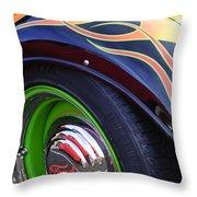 1933 Ford Wheel Throw Pillow