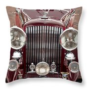 1934 Bentley 3.5-litre Drophead Coupe Grille Throw Pillow