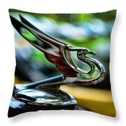 1934 Chevrolet Flying Eagle Hood Ornament - 2 Throw Pillow