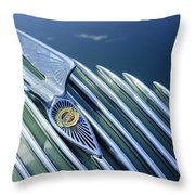 1934 Chrysler Airflow Hood Ornament Throw Pillow