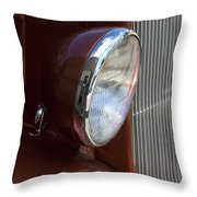 1934 Ford Headlight And Grill Throw Pillow