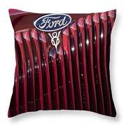 1934 Ford V8 Emblem 2 Throw Pillow