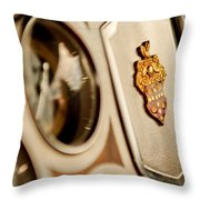 1934 Packard 1104 Super Eight Phaeton Emblem Throw Pillow by Jill Reger