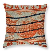 1934 U. S. Air Mail Dull Orange Stamp Throw Pillow