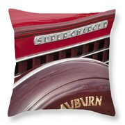 1935 Auburn Emblem Throw Pillow