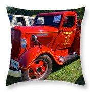 1935 Dodge Firetruck Throw Pillow