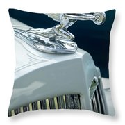 1935 Packard Sedan Hood Ornament Throw Pillow