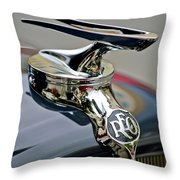 1935 Reo Speedwagon Pickup Hood Ornament Throw Pillow
