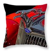 1936 Ford Model 48 Emblem Throw Pillow