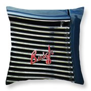 1937 Buick Grille Emblem Throw Pillow