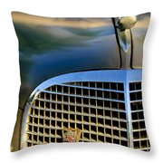 1937 Cadillac Hood Ornament And Grille Throw Pillow