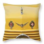 1937 Cord 812 Sc Convertible Phaeton Sedan Grille Emblems Throw Pillow