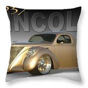 1937 Lincoln Zephyr Throw Pillow