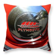 1937 Plymouth Hubcap Throw Pillow