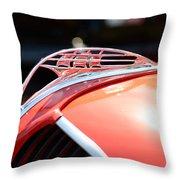 1937 Plymouth Sailing Ship Hood Ornament Throw Pillow