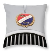 1937 Talbot-lago Emblem Throw Pillow