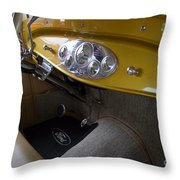1938 Ford Roadster Dashboard Throw Pillow