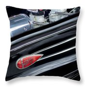 1939 Lincoln Zephyr Engine Throw Pillow