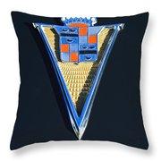 1940 Cadillac Emblem Throw Pillow