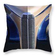 1940 Cadillac Lasalle Convertible Grille Throw Pillow