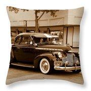 1940 Chevrolet Special Deluxe - Sepia Throw Pillow