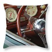 1940 Chevrolet Steering Wheel Throw Pillow