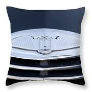 1940 La Salle Hood Emblem Throw Pillow