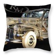 1940 Pontiac Transparent Throw Pillow