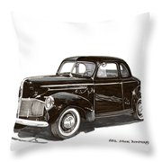 Studebaker Business Coupe Throw Pillow