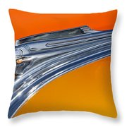 1941 Pontiac Chief Hood Ornament Throw Pillow