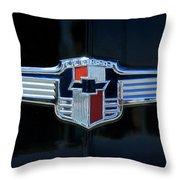 1942 Chevrolet Emblem Throw Pillow