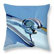 1946 Dodge Ram Hood Ornament Throw Pillow