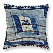 1946 Iowa Statehood Stamp Throw Pillow