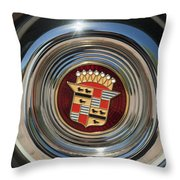 1947 Cadillac Emblem 2 Throw Pillow