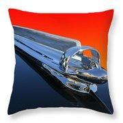 1947 Chevrolert Hood Ornament Throw Pillow